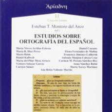 Libros: ESTUDIOS SOBRE ORTOGRAFÍA DEL ESPAÑOL (VV.AA.) AXAC 2015. Lote 182860866