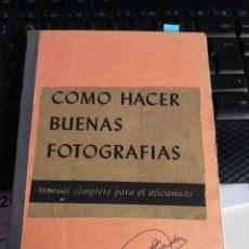 Libros: MANUAL KODAK COMO HACER BUENAS FOTOGRAFÍAS. Lote 194749867