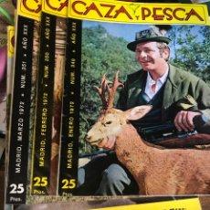 Libros: CINCO REVISTAS DE CAZA Y PESCA DEL AÑO 1972. Lote 199100047