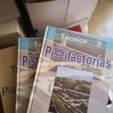 Libros: TÉCNICO EN PISCIFACTORÍAS, 2 TOMOS. Lote 204618573