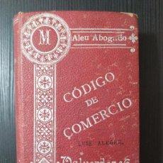 Libros: CODIGO DE COMERCIO AUMENTADO CON LA LEY DE HIPOTECA NAVAL.-MANUEL ALEU Y CARRERA MADRID 1907 CODIGO. Lote 205202080