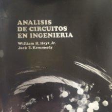 Libros: ANÁLISIS DE CIRCUITOS EN INGENIERÍA. Lote 207206015