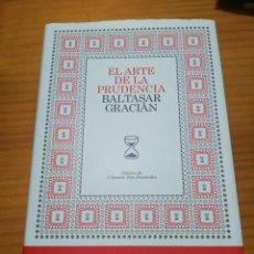 Libros: LIBRO EL ARTE DE LA PRUDENCIA DE BALTASAR GRACIAN. Lote 207445688
