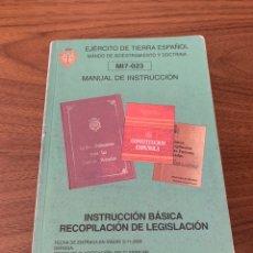 Livros: MANUAL DE INSTRUCCIÓN LEGISLACIÓN. Lote 208811145