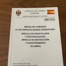 Livros: MÓDULO DE DEONTOLOGÍA Y PSICOPEDAGOGÍA. Lote 208811552