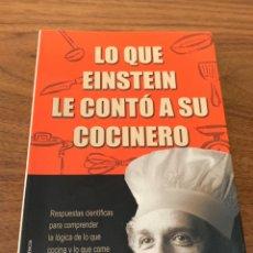 Livros: LO QUE EINSTEIN LE CONTÓ A SU COCINERO. Lote 208813307