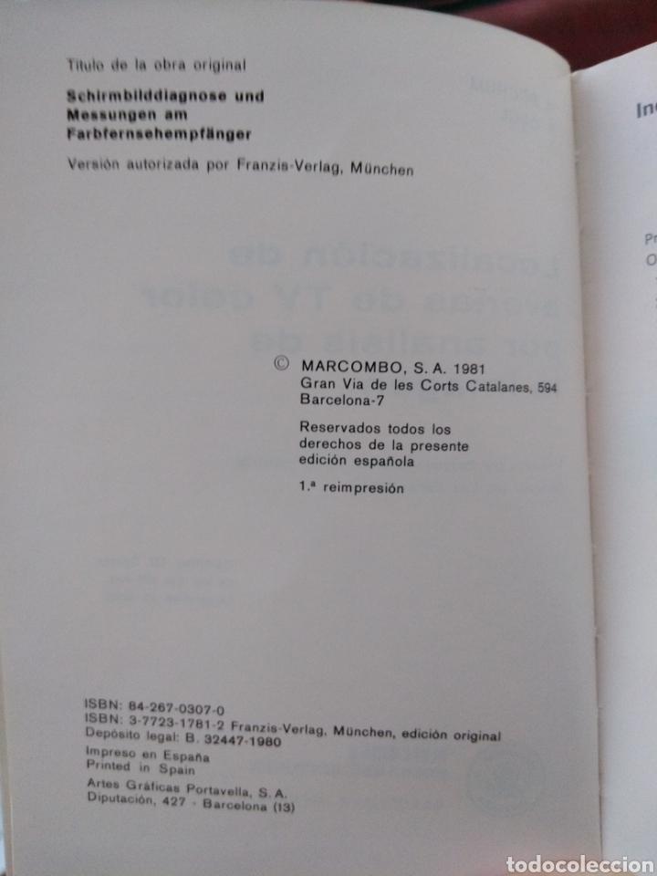 Libros: LOCALIZACION DE AVERIAS DE TV COLOR POR ANALISIS DE LA IMAGEN,marcombo,boixareu,tv color,electronica - Foto 3 - 151073702