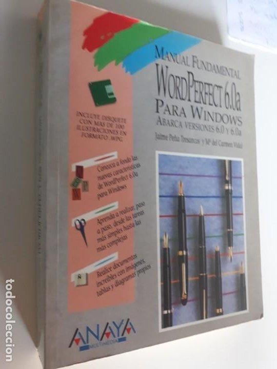 MANUAL WORDPERFECT 6.0 PARA WINDOWS ANAYA 1994 (Libros Nuevos - Ciencias, Manuales y Oficios - Otros)