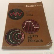 Libros: RADIO CASTILLA , COMPONENTES , RADIO , FM , TV , STEREO , TRANSISTOR. Lote 213157108