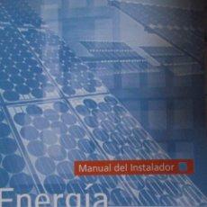 Libros: CURSO ENERGIA SOLAR FOTOVOLTAICA. Lote 213891237