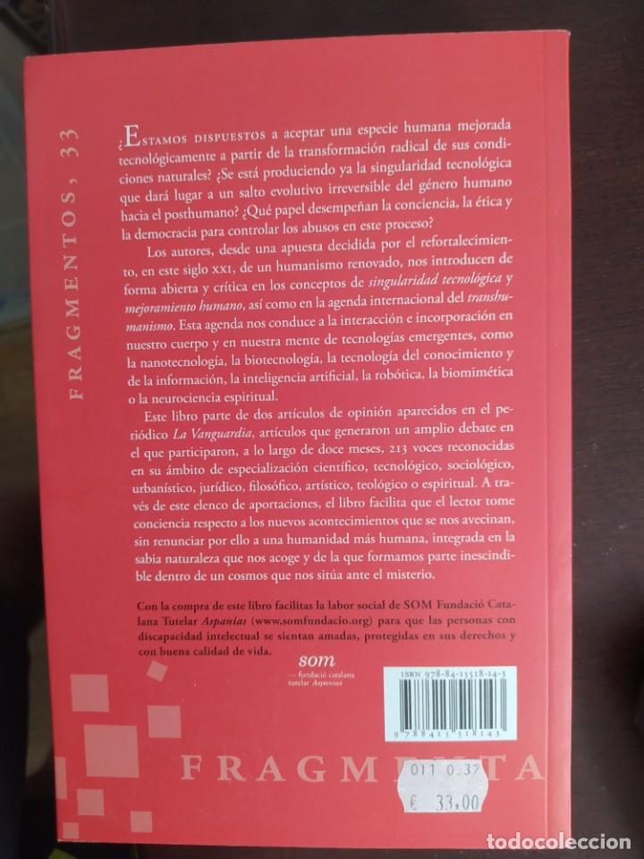Libros: HUMANOS O POSTHUMANOS. ALBERT CORTINA MIQUEL ANGEL SERRA. ENVIO CERTIFICADO INCLUIDO - Foto 2 - 217160981
