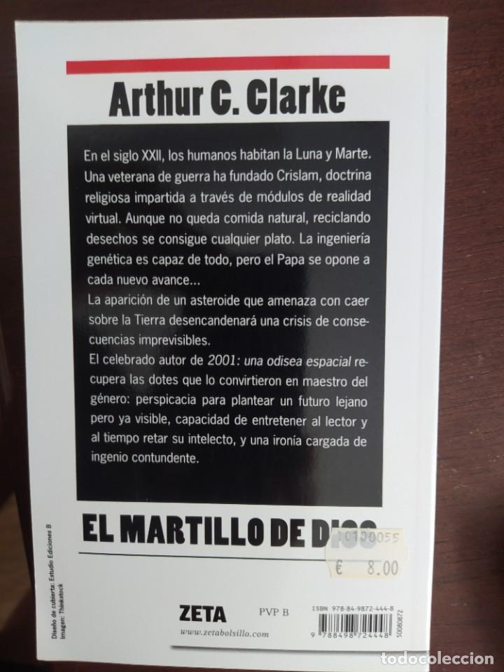 Libros: BEST SELLER CIENCIA FICCION EL MARTILLO DE DIOS. ARTHUR C. CLARKE. ENVIO CERTIFICADO INCLUIDO - Foto 2 - 217214300