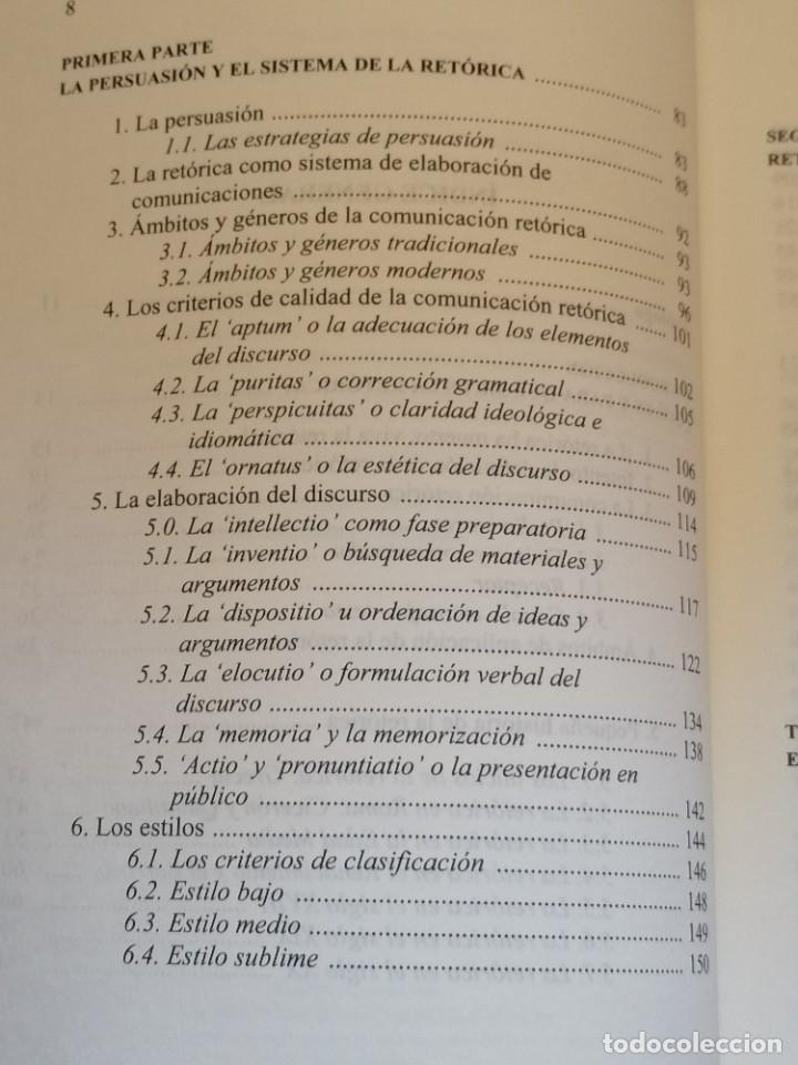 Libros: PERSUASIÓN - FUNDAMENTOS DE RETÓRICA - KURT SPANG - ED. UNIVERSIDAD DE NAVARRA - 2005 - Foto 6 - 217851441