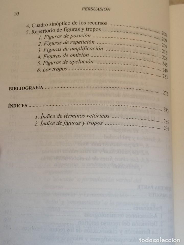 Libros: PERSUASIÓN - FUNDAMENTOS DE RETÓRICA - KURT SPANG - ED. UNIVERSIDAD DE NAVARRA - 2005 - Foto 8 - 217851441