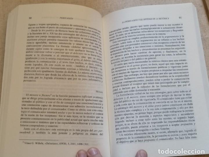 Libros: PERSUASIÓN - FUNDAMENTOS DE RETÓRICA - KURT SPANG - ED. UNIVERSIDAD DE NAVARRA - 2005 - Foto 9 - 217851441