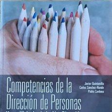 Libros: CO. PETENCIAS DE LA DIRECCIÓN DE PERSONAS. JAVIER QUINTANILLA. Lote 218326412