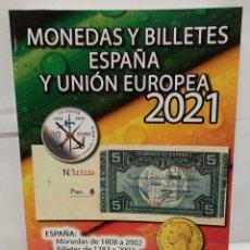 Libros: MONEDAS Y BILLETES DE ESPAÑA Y UNIÓN EUROPEA. EDICCIÓN 2021. HNOS GUERRA. Lote 220420261
