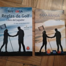 Libros: LIBRO DEL JUGADOR: REGLAS DE GOLF 2019 R&A USGA + GUÍA RÁPIDA REGLAS DE GOLF. Lote 221370026