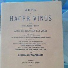Libros: ARTE DE HACER VINOS FACSÍMIL EDICIÓN DE 1890 (VER CONTENIDO EN LA IMÁGEN). Lote 222424246
