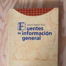 Libros: FUENTES DE INFORMACION GENERAL, ARTURO MARTIN VEGA, (EDITORIAL TREA). Lote 226848645
