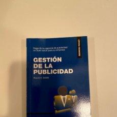 """Libros: """"GESTIÓN DE LA PUBLICIDAD"""" - RICARDO H. ONTALBA. Lote 244969040"""