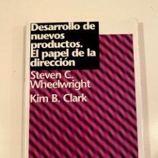 """Libros: """"DESARROLLO DE NUEVOS PRODUCTOS. EL PAPEL DE LA DIRECCIÓN""""- STEVEN C. KIM B.. Lote 245165325"""