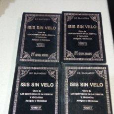 Libros: ISIS SIN VELO H.P BLAVATSKY CUATRO TOMOS. Lote 248632060