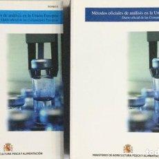 Libri: MÉTODOS OFICIALES DE ANÁLISIS EN LA UNIÓN EUROPEA. ( 2 TOMOS) MINISTERIO. NUEVO. Lote 249058965