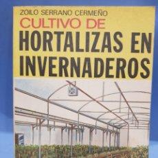 Libros: CULTIVO DE HORTALIZAS EN INVERNADEROS, EDITORIAL AEDOS, AÑO 1979. Lote 252076475