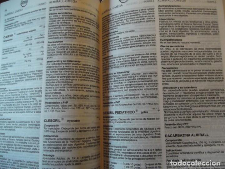 Libros: Valdemecum INTERNACIONAL MEDICOM año 1991 1900 pag / de 22 x 17 y 8 cm de grueso - Foto 3 - 253550140