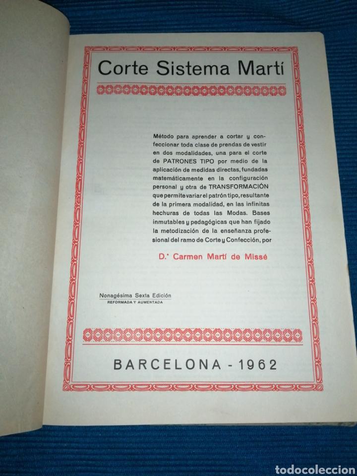 Libros: LIBRO DE CORTE SISTEMA MARTÍ, MODISTERIA, BARCELONA 1962. MÁS REGALO - Foto 4 - 253569130