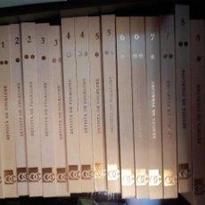 Libros: REVISTA DE FOLKLORE CAJA DE AHORROS POPULAR VALLADOLID 1980 JOAQUÍN DÍAZ 16 TOMOS. Lote 254810310