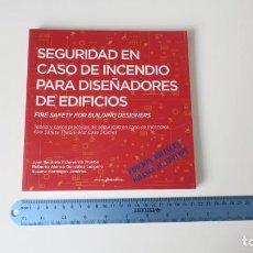 Livros: SEGURIDAD EN CASO DE INCENDIO PARA DISEÑADORES DE EDIFICIOS. Lote 255340460