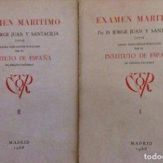 Libros: EXAMEN MARÍTIMO (2 TOMOS). JORGE JUAN Y SANTACILIA (1771) EDICIÓN FACSÍMIL 1968, INSTITUTO DE ESPAÑA. Lote 262958355