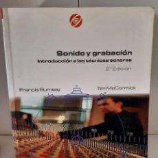 Livros: SONIDO Y GRABACION TECNICAS SONORAS CINE FOTOGRAFIA IMAGEN. Lote 265786284