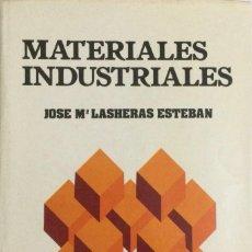 Libros: MATERIALES INDUSTRIALES. LASHERAS. NUEVO. Lote 269949378