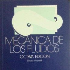 Libros: MEÁNICA DE LOS FLUIDOS. STREETER. NUEVO. Lote 269952188