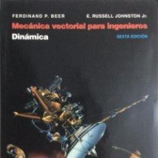 Libros: MECÁNICA VECTORIAL PARA INGENIEROS. DINÁMICA. BEER. NUEVO.. Lote 269961328