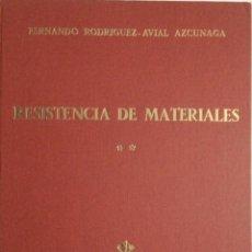 Libros: RESISTENCIA DE MATERIALES **. RODRIGUEZ ÁVIAL. NUEVO. Lote 269962018