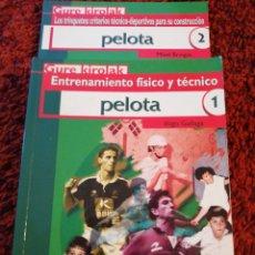 Libros: JUEGO DE PELOTA ENTRENAMIENTO FISICO Y TÉCNICO- TRINQUETES CONSTRUCCIÓN. Lote 271053803