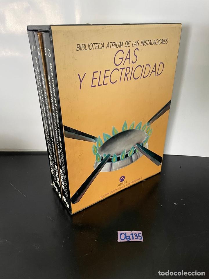 BIBLIOTECA ATRIUM DE LAS INSTALACIONES - GAS Y ELECTRICIDAD - 5 TOMOS EN ESTUCHE (Libros Nuevos - Ciencias, Manuales y Oficios - Otros)