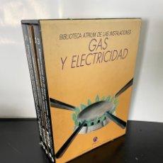 Libros: BIBLIOTECA ATRIUM DE LAS INSTALACIONES - GAS Y ELECTRICIDAD - 5 TOMOS EN ESTUCHE. Lote 274287633
