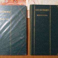 Libros: GRAN LOTE CORTE SISTEMA MARTÍ 2 VOLÚMENES MODISTERIA Y PATRONES TIPO Y UN MONTÓN DE PATRONES. Lote 276101368