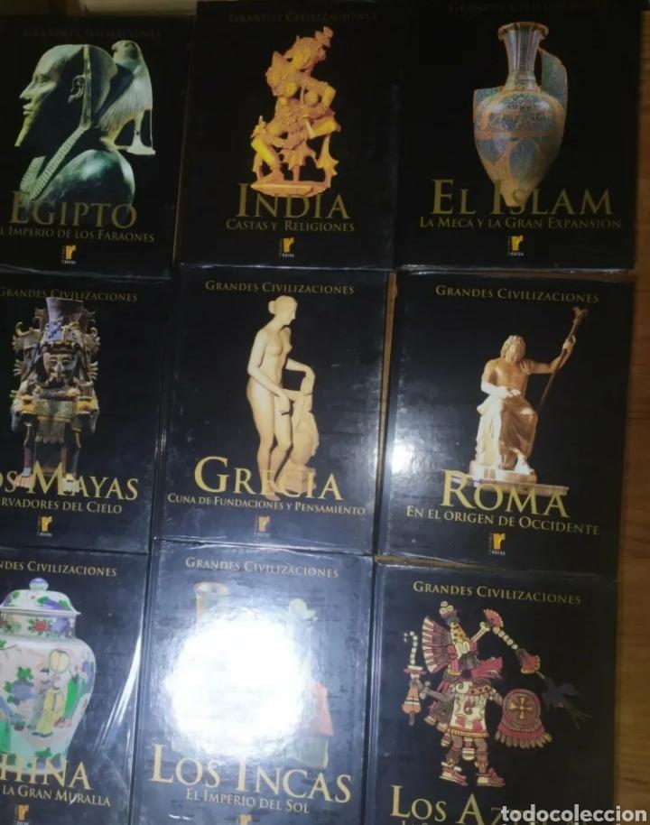 Libros: Ocasión! Colección completa a estrenar de Grandes Civilizaciones, ediciones Rueda. 10 tomos. - Foto 3 - 276289783