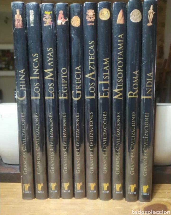 Libros: Ocasión! Colección completa a estrenar de Grandes Civilizaciones, ediciones Rueda. 10 tomos. - Foto 5 - 276289783