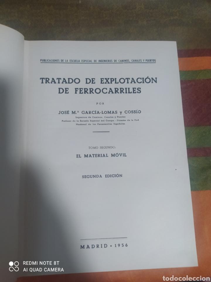Libros: TARDADO DE EXPLOTACIÓN DE FERROCARRILES TOMÓ 1 Y 2 DE JOSE MARÍA GARCÍA - LOMAS - Foto 9 - 276992698