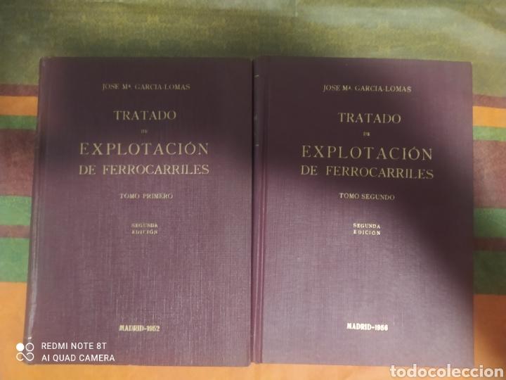 TARDADO DE EXPLOTACIÓN DE FERROCARRILES TOMÓ 1 Y 2 DE JOSE MARÍA GARCÍA - LOMAS (Libros Nuevos - Ciencias, Manuales y Oficios - Otros)