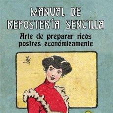 Libros: MANUAL DE REPOSTERÍA SENCILLA. LUZ MARTÍN. POSTRES, DULCES, HELADOS. TAULA EDICIONES, 2021.. Lote 278349368