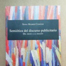 Libros: SEMIOTICA DEL DISCURSO PUBLICITARIO SONIA MADRID CÁNOVAS - NUEVO. Lote 287094968
