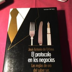 Libros: EL PROTOCOLO EN LOS NEGOCIOS DE JOSÉ A. DE URBINA. Lote 288443838